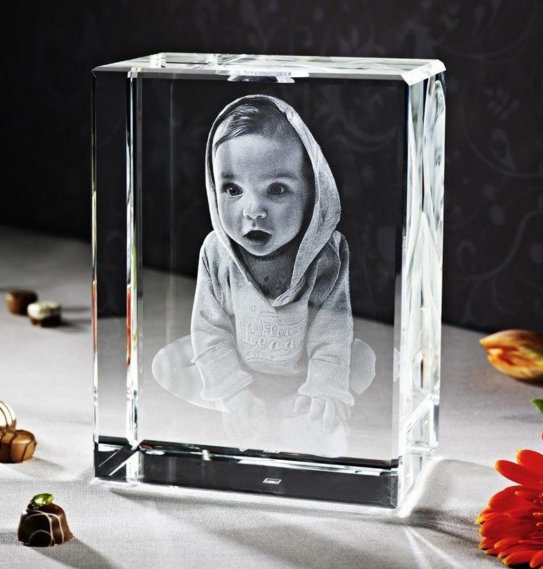 3d fotos im glas