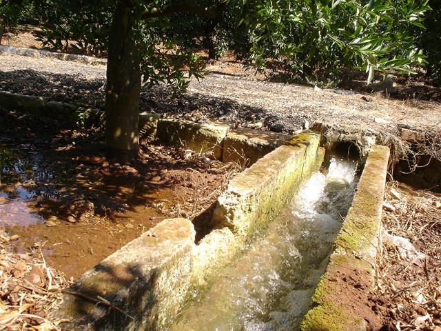 Dettaglio antico sistema di irrigazione