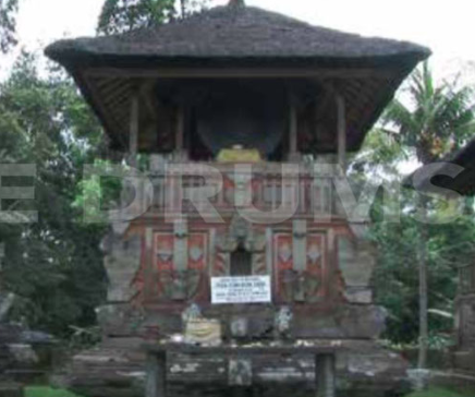 "Fig. 19. ""Moon of Pejeng"" under the roof of its dedicated temple in Gianyar - Bali"