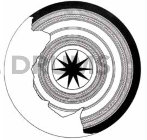 Fig. 9. Tympan schema from Khu Bua drum (D50 cm)