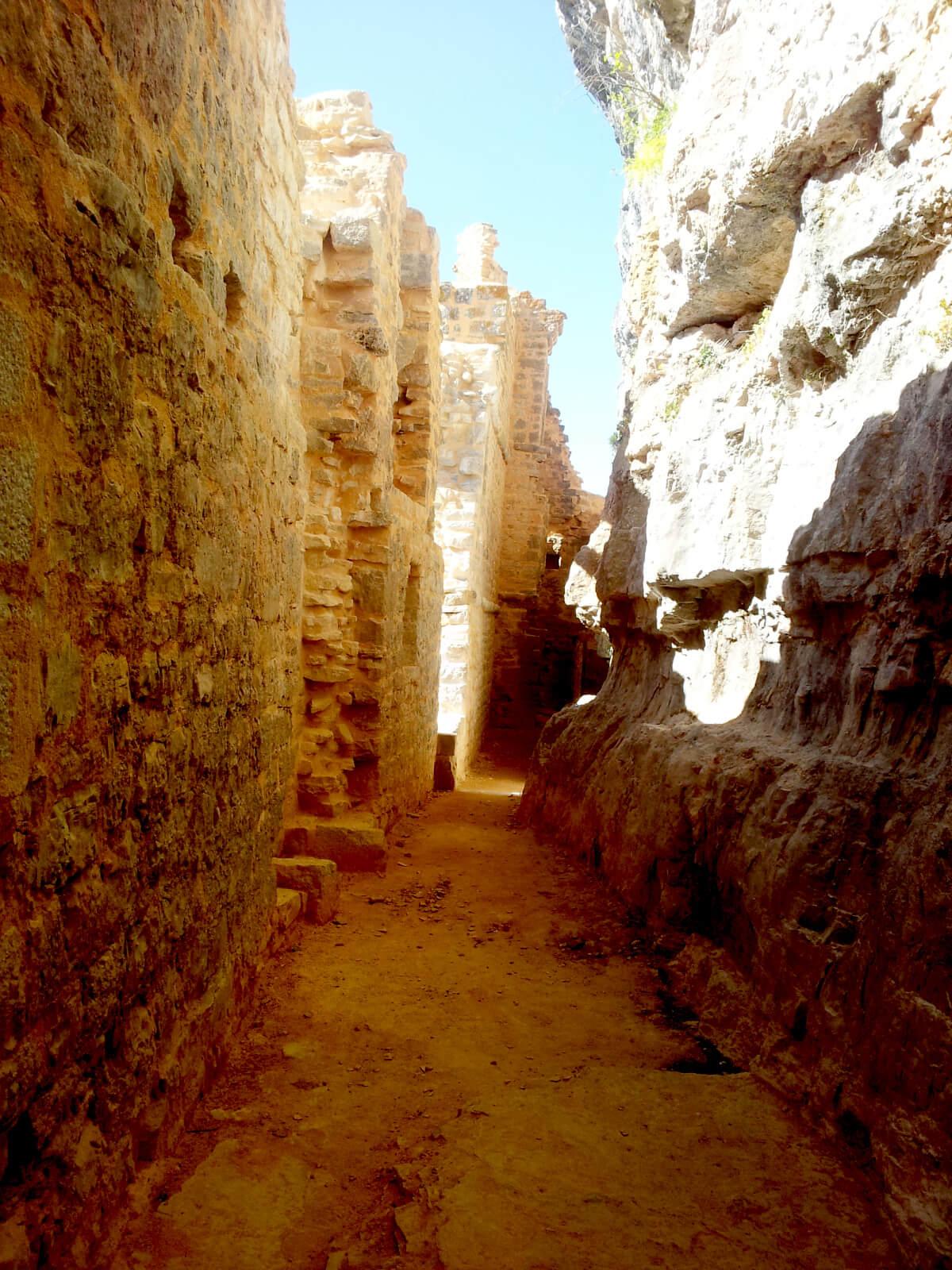 L'intérieur du château des Anglais d'Autoire