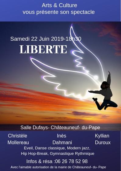 Gala Liberté . Ass Arts & Culture. Châteauneuf du Pape.