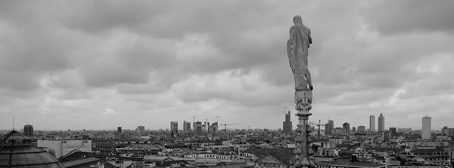 Vue depuis le sommet de la Cathédrale de Milan !