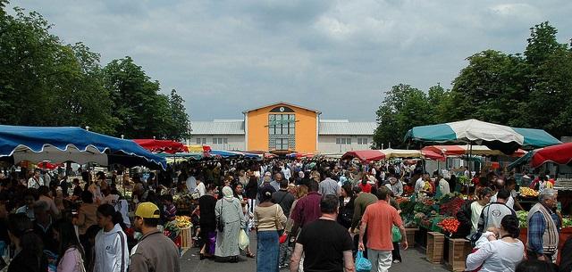 Marché de Mulhouse, Alsace - Source OT de Mulhouse