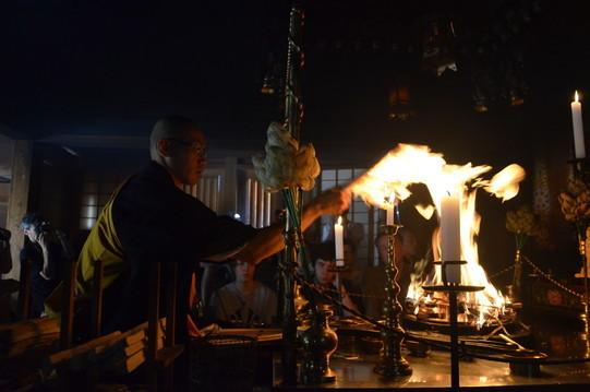 Cérémonie du Feu au temple Eko-In