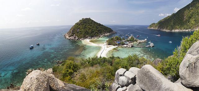 Sur l'île de Kop Tao, l'une des vues les plus emblématiques de l'île ! - Source : Joan Fruitet - Flickr.com
