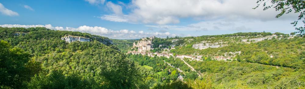 Vue sur le canyon et Rocamadour