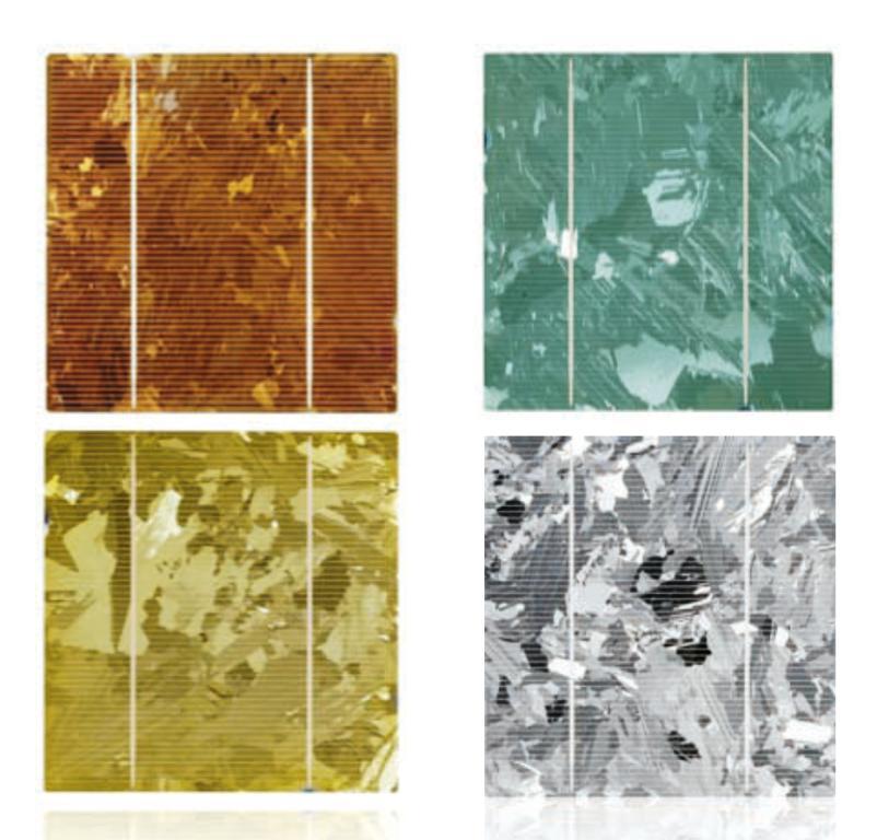 Farbvarianten für Photovoltaikfassade