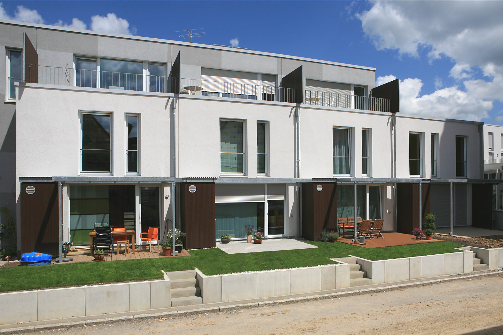 kosten- und flächensparende Stadthäuser, Endverkaufspreis 2300 Euro/qm