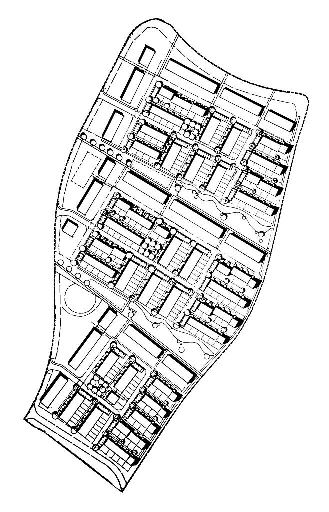 drei kompakte Baufelder