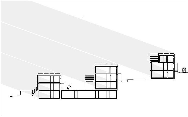 solares Konzept: Nutzung der Hanglage