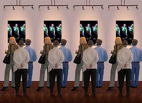 ¿Cuántas personas están visitando la galería?