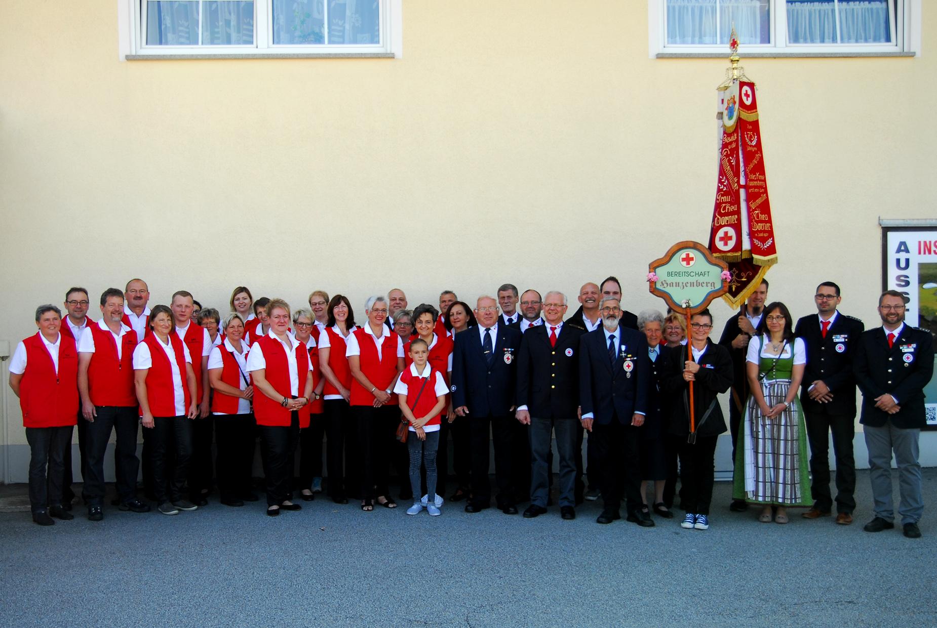 Über den Besuch der Hauzenberger Bereitschaft freuten wir uns sehr ...