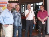 Die FDP-Bürgermeisterkandidaten im Gespräch mit dem Kreisvorsitzenden Peter Rauw