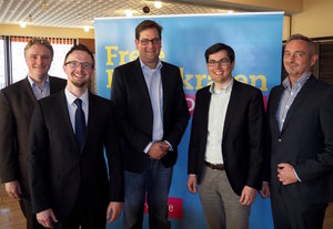 v.l.n.r. Hendrik Hackmann, Stefan Lenzen, Markus Herbrand, Alexander Wilkomm, Dr. Werner Pfeil
