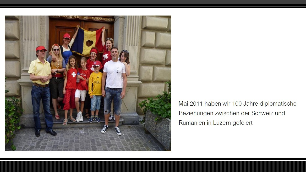 """Luzern 2011 """"100 Jahre diplomatische Beziehungen RO-CH"""""""