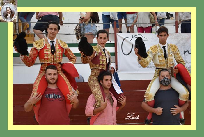 """""""II Semifinal"""": Llobregat, dos y rabo, a hombros junto a López Peregrino y Mario Sánchez, con buena novillada de Apolinar Soriano en Navas de San Juan"""