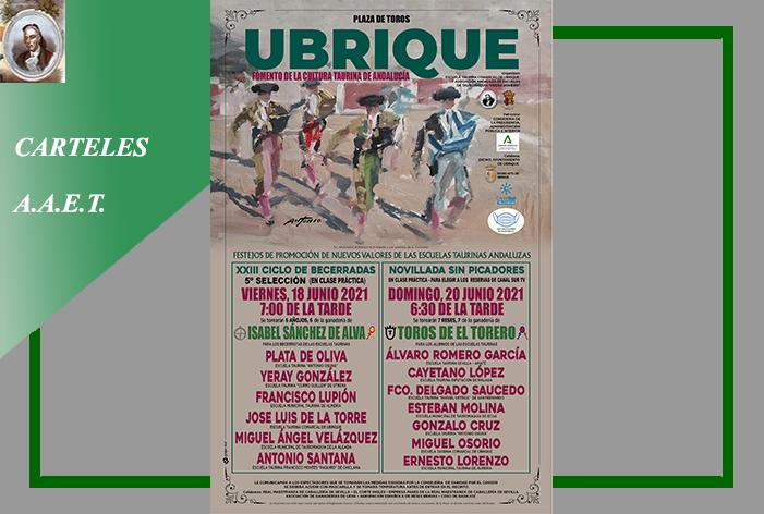La plaza de toros de Ubrique albergará dos festejos de la AAET 'Pedro Romero', el viernes 18 y el domingo 20 de junio