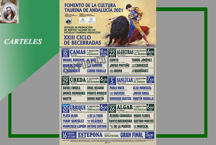 La Asociación Andaluza de Escuelas Taurinas 'Pedro Romero' ha presentado el 'Cartel' del XXIII Ciclo de Becerradas en Clase Práctica