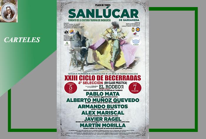 Sanlúcar de Barrameda acogerá el próximo sábado 5 de junio, la IV Selección del XXIII Ciclo de Becerradas