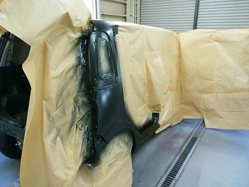 ロッカーパネル内側・クォーターパネル内側塗装