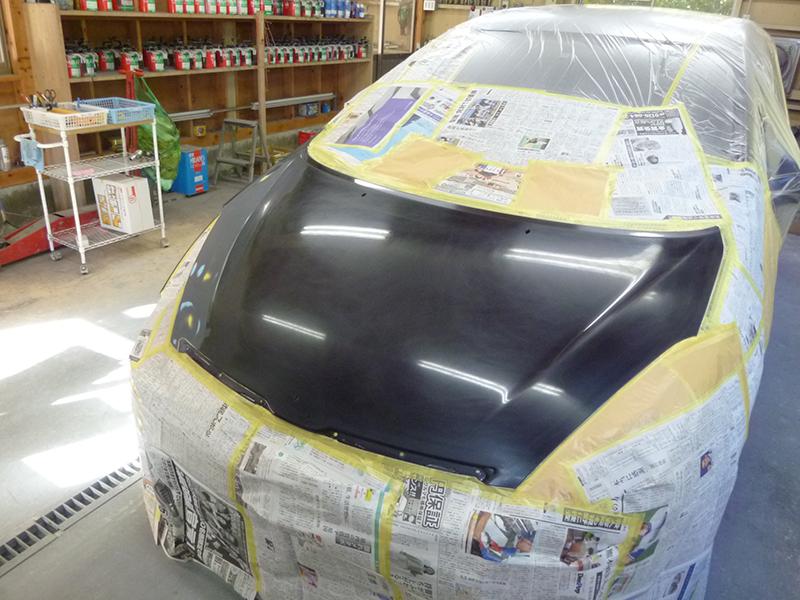 サフェーサー塗装後水研ぎ