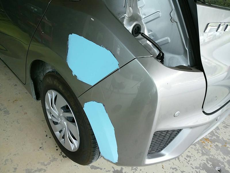 サフェーサー塗装後・ラッカーパテ塗り付け