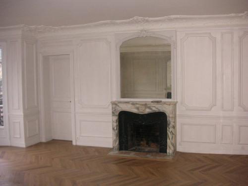 Restauration & ponçage de l'ancien parquet et peinture