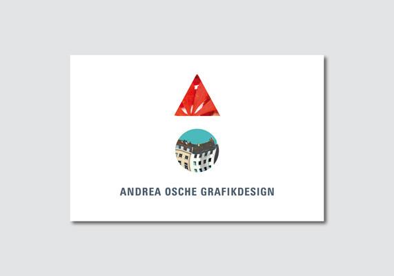 Visitenkarte für Andrea Osche Grafikdesign, Düsseldorf
