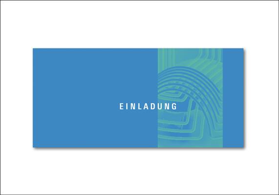 Einladungskarte für einen Mediziner | ©Andrea Osche – www.a-osche.de
