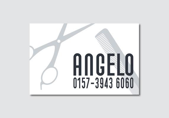 Visitenkarte für einen mobilen Friseur, Düsseldorf