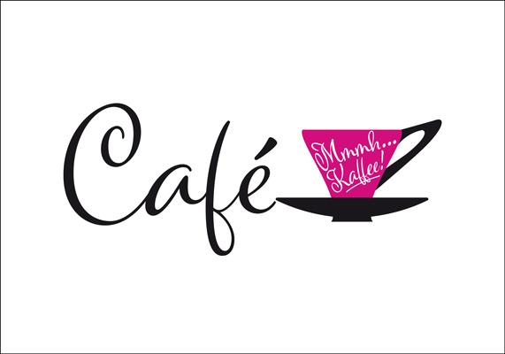 Logo-Entwurf für ein Café, das im 50er-Jahre-Stil eingerichtet ist   © Andrea Osche – www.a-osche.de