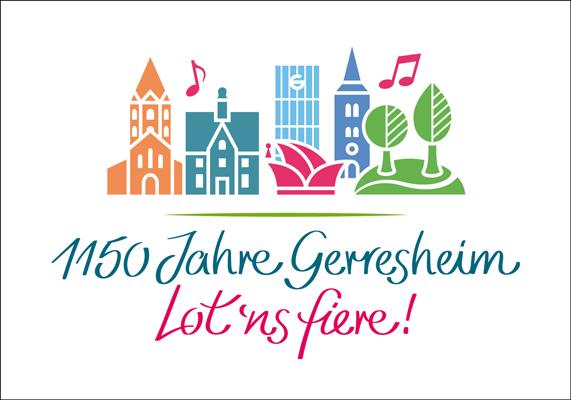 Corona-Jahr 2020: Jubiläumslogo für Gerresheim, das 1909 nach Düsseldorf eingemeindet wurde, und sein 1150-jähriges Bestehen feiern sollte.