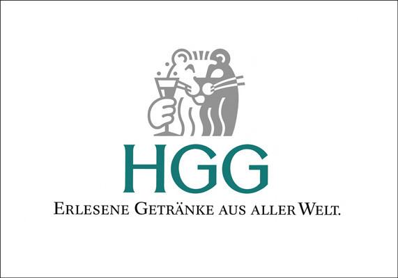 Logo für die HGG Handelsgesellschaft für Getränke, Weine und Spirituosen GmbH, Düsseldorf