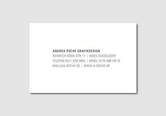 Visitenkarte | Andrea Osche Grafikdesign | Rückseite
