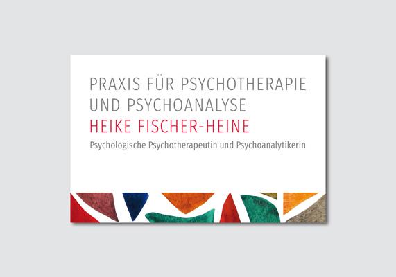 Visitenkarte | Praxis für Psychotherapie & Psychoanalyse – Heike Fischer-Heine, Düsseldorf
