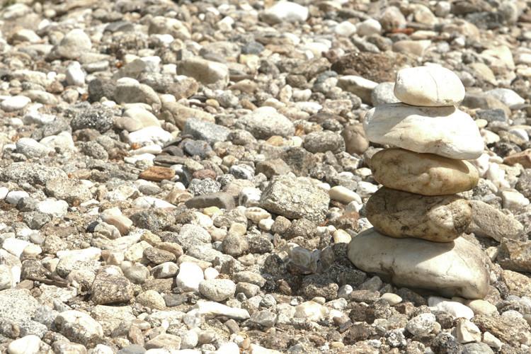 Harmonie mit Steinen am Kösselbach