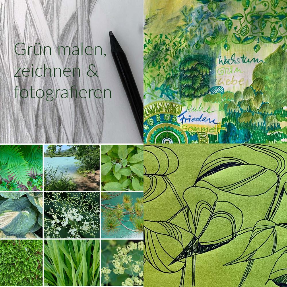 Grün malen - 7 Tipps und Maltechniken