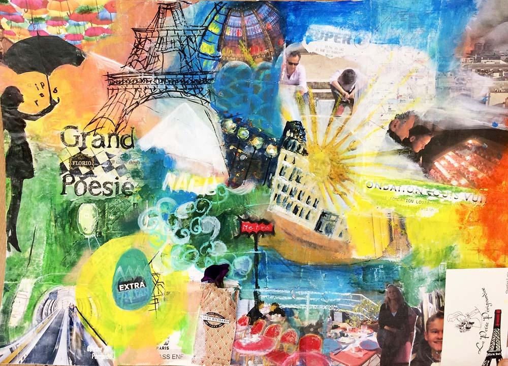 Reisecollage mit Mixed Media - die Alternative zum Fotobuch