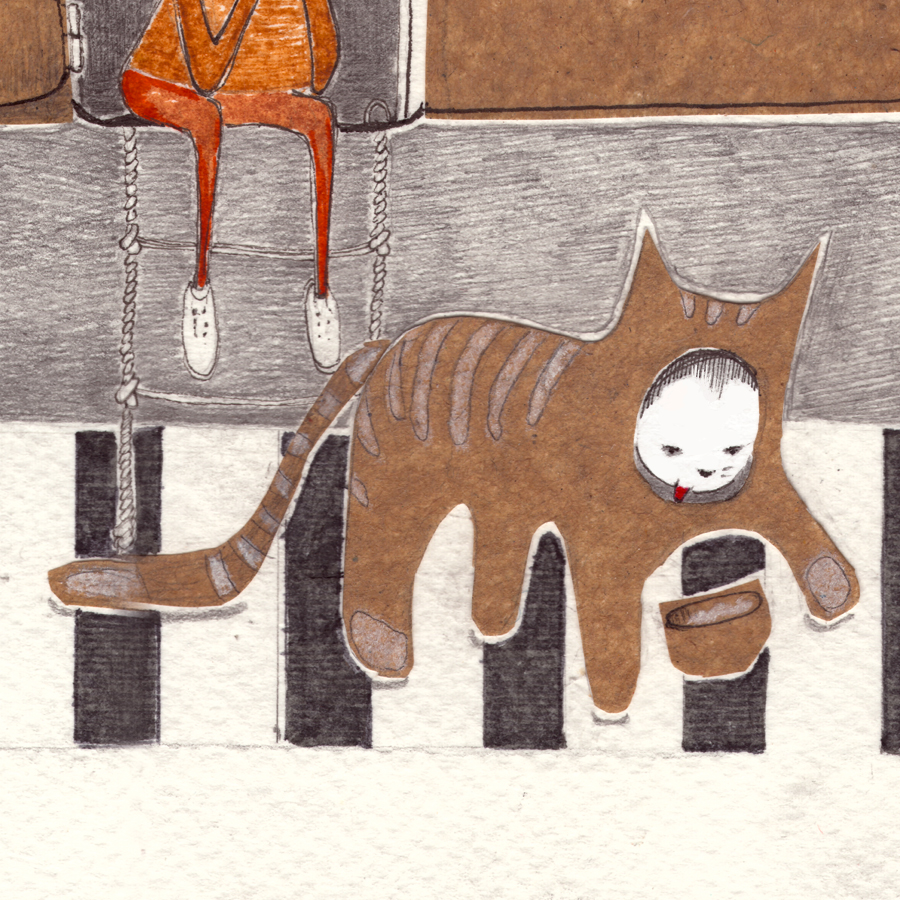 Portrait-Kind Katze