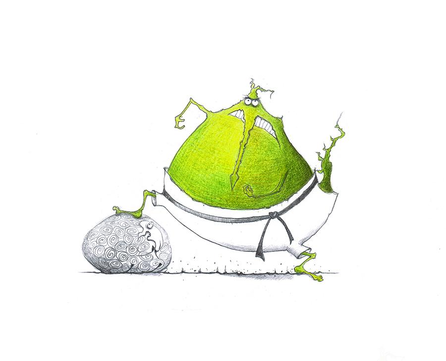 Illustration-Judo Drache
