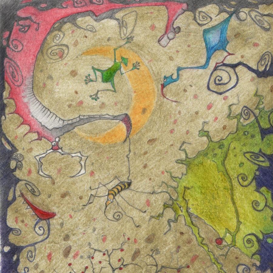 Illustration-Monsterwald-Buntstifte