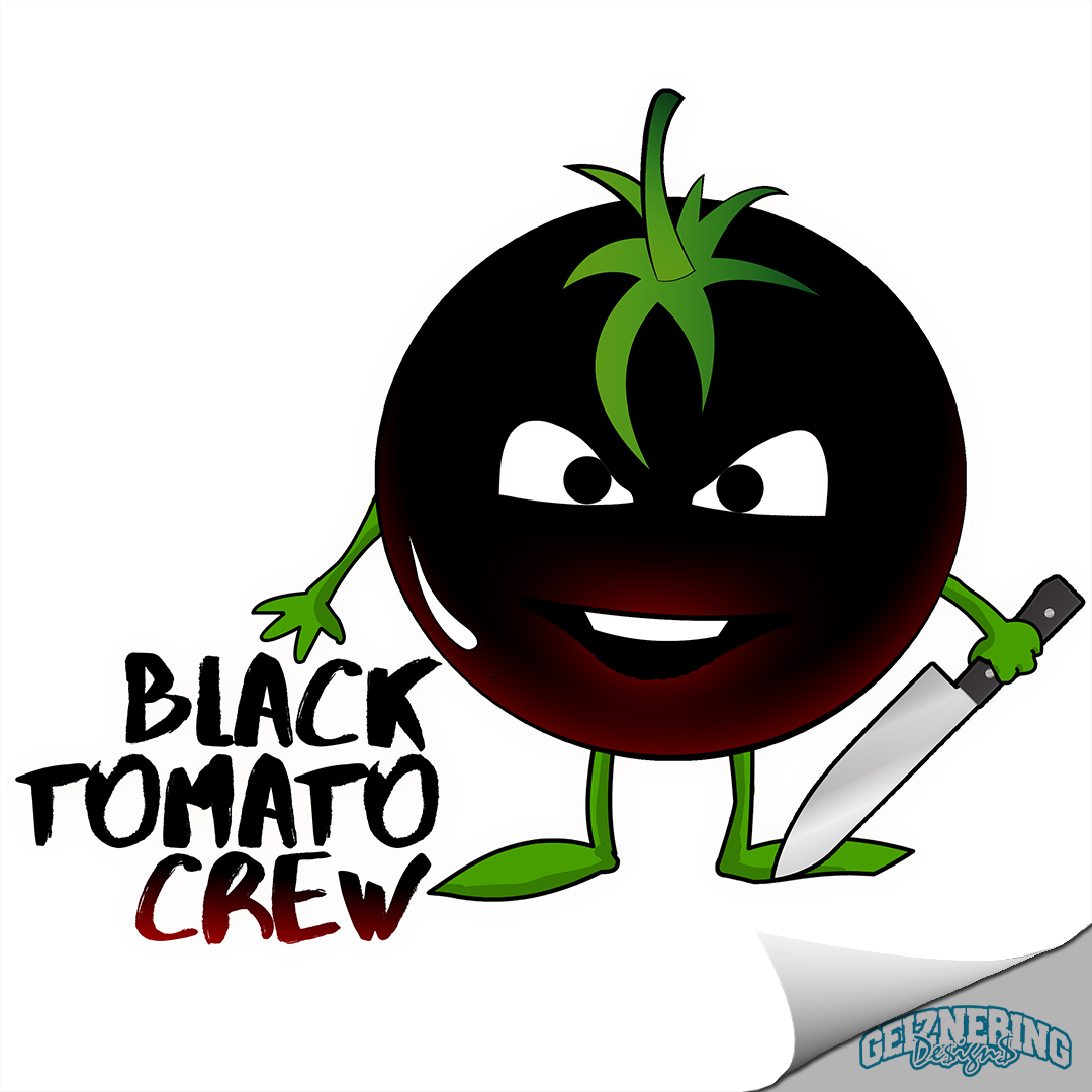 Logodesign - Black Tomato Crew (Vegan Catering)