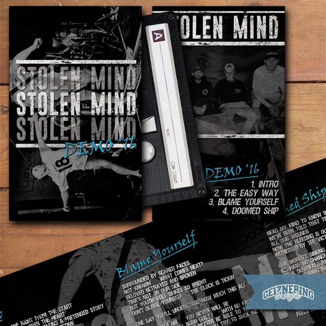 Cover + Backcover + Booklet-Design for STOLEN MIND