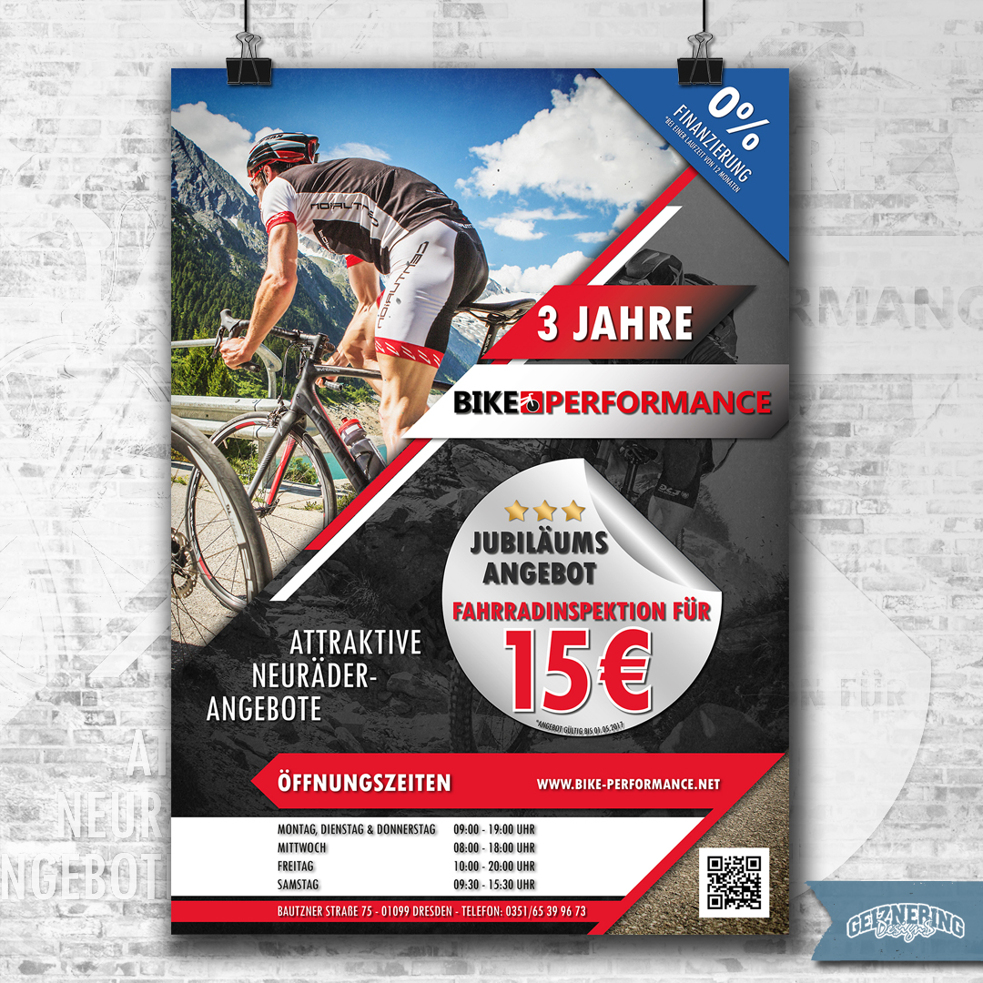 Plakat-, Flyer-, Banner-Design - Bikeperformance Dresden