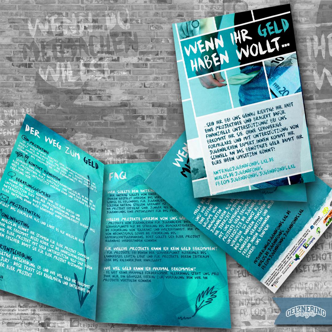 Faltblatt-Design (4-Seiter): Jugendfond