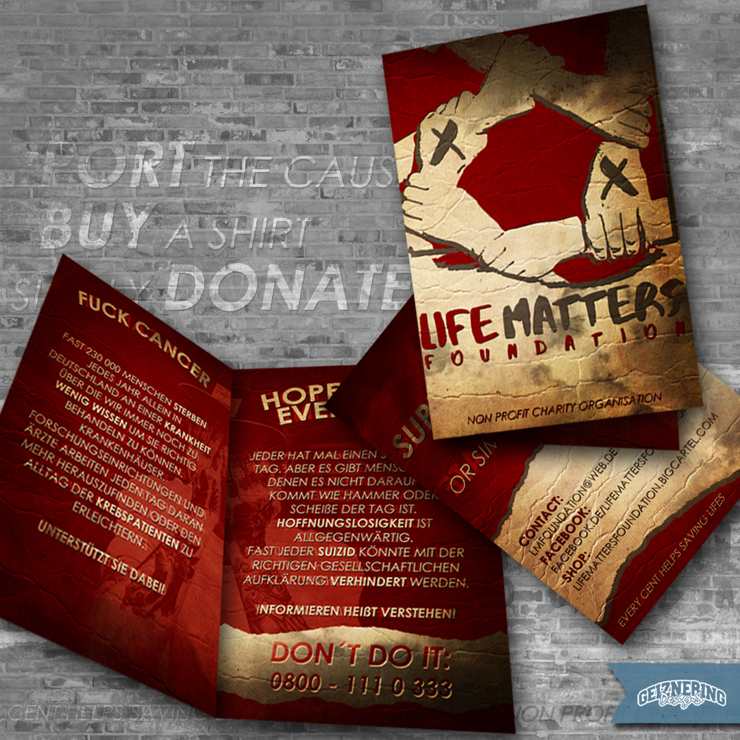 Faltblatt-Design (4-Seiter): LIFE MATTERS FOUNDATION