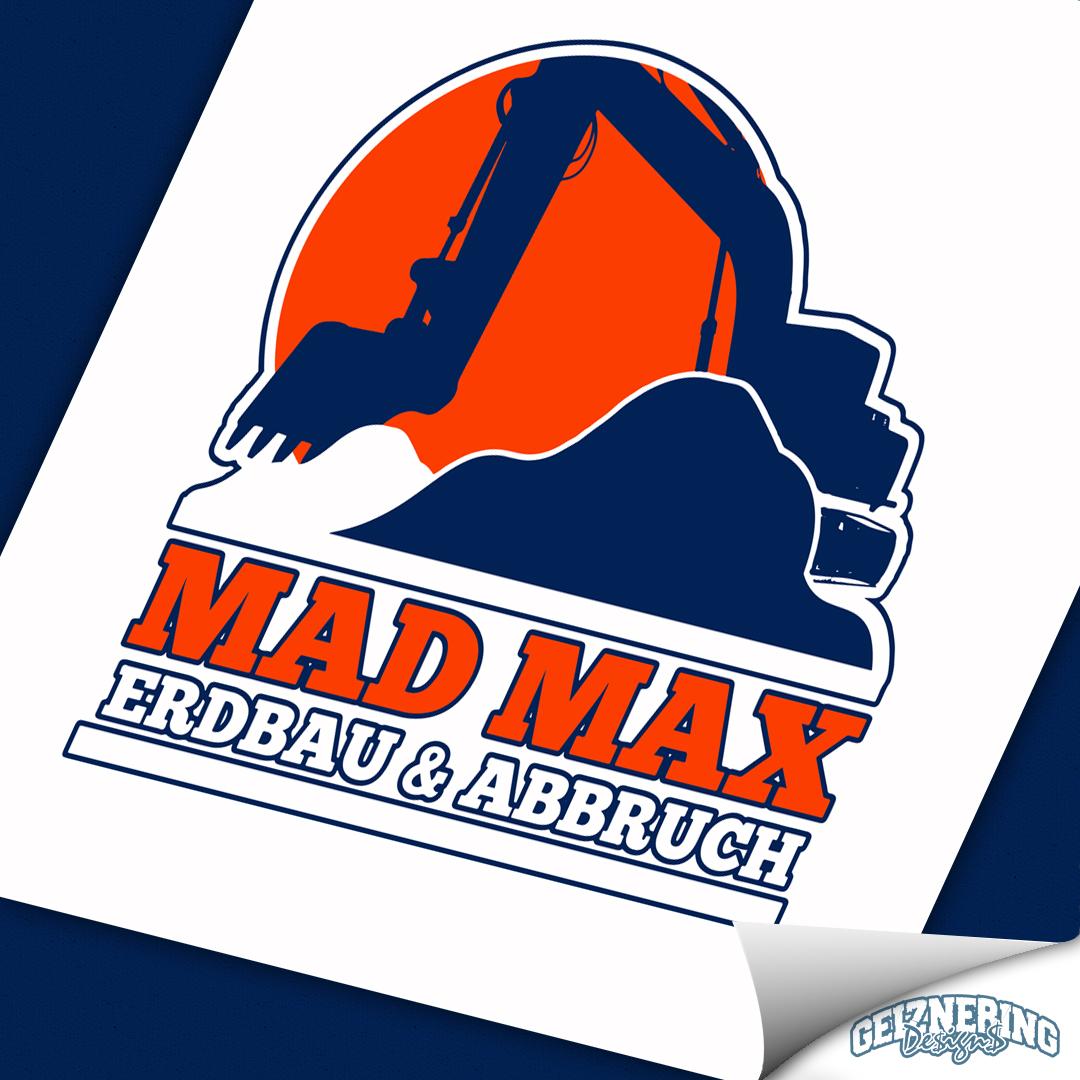 Logodesign - MAD MAX Erdbau & Abbruch
