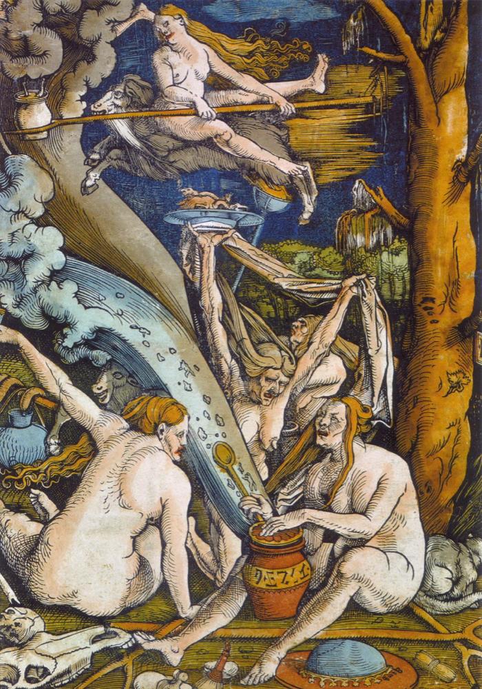 Les sorcières - Gravure de Hans Baldung Grien • 1510