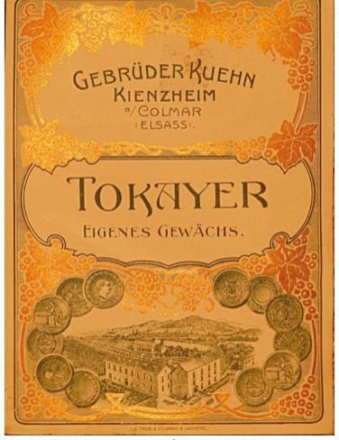 Une étiquette TOKAYER datant du début du 20e siècle